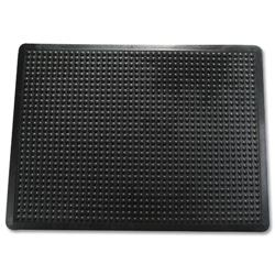 Floortex Mat Rubber Anti Fatigue Textured Anti Slip Bevelled Edge 610x910mm Bubble Pattern