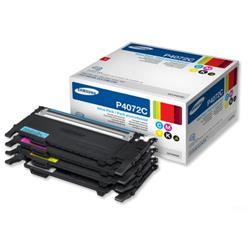 Samsung Laser Toner Cartridge Page Life 1000-1500pp Black/Cyan/Magenta/Yellow Ref CLT-P4072C/ELS - Pack 4