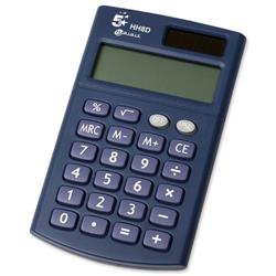 5 Star Office Calculator Handheld 8 Digit 3 Key Memory Dual-powered by Solar and Battery