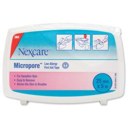 Image of 3M Nexcare Micropore First Aid Tape 25mmx5m White