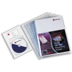 Rexel Nyrex Pocket Punched 4-Hole Full-size Extra Capacity 250 Sheets A4 Ref 2001016 [Pack 5]