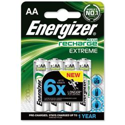 Energizer Battery Rechargeable Advanced NiMH Capacity 2300mAh LR06 1.2V AA Ref E300624600 [Pack 4]
