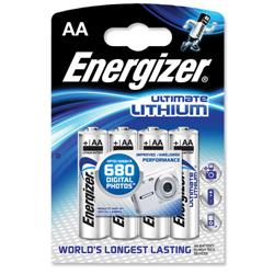 Energizer Ultimate Battery Lithium LR06 1.5V AA Ref 626264 - Pack 4