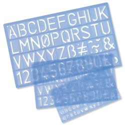 Stencil Pack of Letters Numbers and £/p Symbols 10mm 20mm 30mm