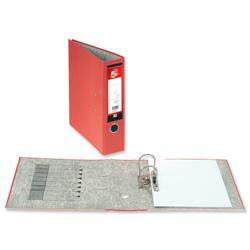 5 Star Office Lever Arch File 70mm Spine A4 Red [Pack 10]