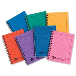 Notebook Sidebound Ruled 90gsm 120 Pages A6 Assorted A [Pack 10]