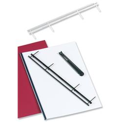 GBC VeloBind Desktop Velobinder Binding Strips Binds up to 200 Sheets 45mm Blue A4 Ref 9741636 (25 Pack)