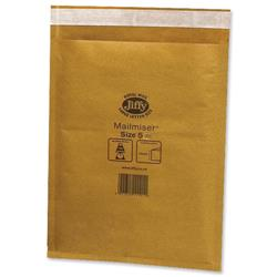 Jiffy Mailmiser No.5 Gold Bubble-lined Protective Envelopes 260x345mm Ref JMM-GO-5 - Pack 50