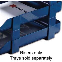 Rexel Agenda Classic Blue Risers 53mm Self-locking for Letter Trays Ref 25225 - Pack 5