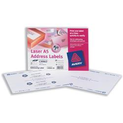 Avery L30063 A5 Addressing Labels 2-label sheets 99.1x38.1mm Ref L30063-20 - 20 sheets