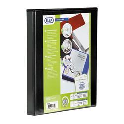 Elba Panorama Presentation Ring Binder PVC 4 O-Ring 16mm Capacity A4 Black Ref 400020317 [Pack 5]
