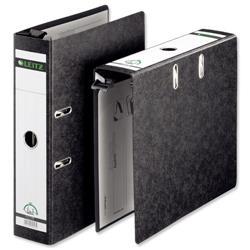 Leitz Suspension Lever Arch File 80mm Spine A4 Black Ref 1821-00-95 [Pack 5]