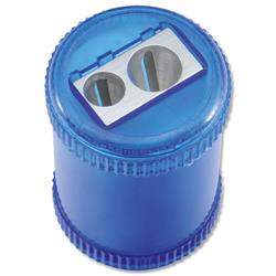 5 Star Office Pencil Sharpener Plastic Canister Maximum Pencil Diameter 8mm 2 Hole Coloured