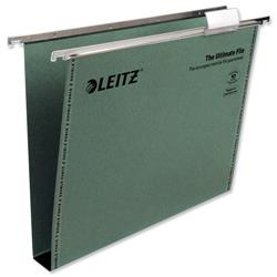 Leitz Ultimate Suspension File Recycled with Tabs Inserts 30mm A4 Green Ref 17430055 - Pack 50