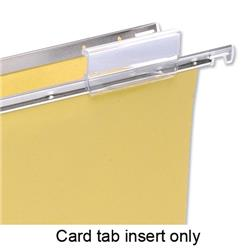 Image of 5 Star Card Inserts for Suspension File Tabs White [Pack 50] - 504609