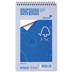 Silvine Notebook Spiral Bound FSC Paper Feint Ruled 160 Pages 60gsm 125x200mm Ref FSC160 - Pack 10+ Win a FREE FitBit!