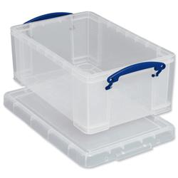 Really Useful Storage Box Plastic Lightweight Stackable 5 Litre W200xD340xH125mm Clear Ref 3x5C - Pack 3