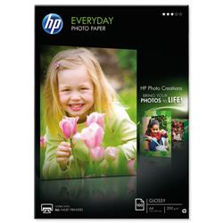 Hewlett Packard HP A4 200gsm Everyday Glossy Photo Paper Ref Q2510A - 100 Sheets