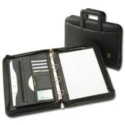 5 Star Office Conference 4 Ring Binder with Handles Capacity 60mm W275xH377mm A4 Black