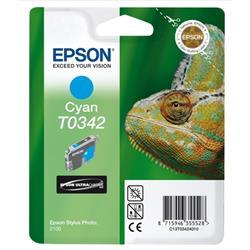 Epson T0342 Inkjet Cartridge Chameleon Page Life 440pp Cyan Ref C13T034240100