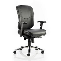 Mirage Executive Chair Black Leather With Arms Without Headrest Ref OP000093
