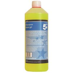 5 Star Facilities All Purpose Lemon Gel 1 Litre