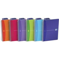 Oxford Office Notebook Twin Wirebound 180pp A5 Random Bright Colour Ref 100104780 [Pack 5] + FREE Uni-ball Pens