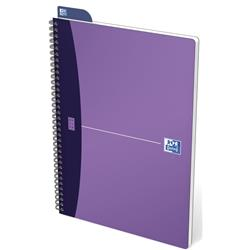 Oxford Metallics Notebook Wirebound Polypropylene Ruled 180pp 90gsm A4 Purple Ref 400051875 [Pack 5]