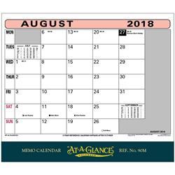 At A Glance 2018 Memo Calendar Ref 90M 2018