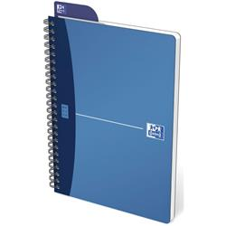Oxford Metallics Notebook Wirebound Polypropylene Ruled 180pp 90gsm A5 Blue Ref 400051961 [Pack 5]