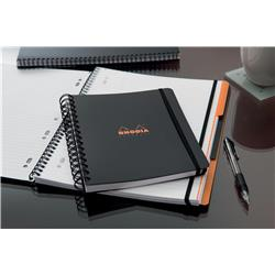 Rhodia Business Book A4+ Wirebound Black Polypropylene Cover [Pack 3] 119236C - 3 for 2