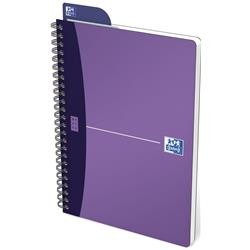 Oxford Metallics Notebook Wirebound Polypropylene Ruled 180pp 90gsm A5 Purple Ref 400051960 [Pack 5]