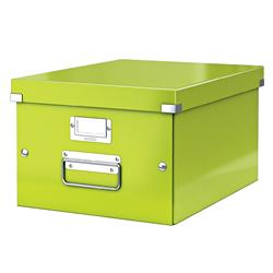 Leitz WOW Click and Store Medium Storage Box For A4 Green Ref 60440064 - 3 for 2