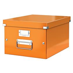 Leitz WOW Click and Store Medium Storage Box For A4 Orange Ref 60440044 - 3 for 2
