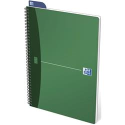 Oxford Metallics Notebook Wirebound Polypropylene Ruled 180pp 90gsm A4 Green Ref 400051873 [Pack 5]