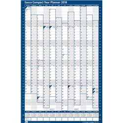 Sasco 2018 Compact Year Planner Portrait Unmounted Ref 2401779-2018