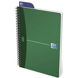 Oxford Metallics Notebook Wirebound Polypropylene Ruled 180pp 90gsm A5 Green Ref 400051878 [Pack 5]