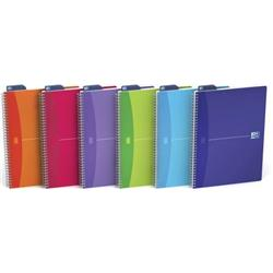 Oxford Office Notebook Twin Wirebound 180pp 90gsm A4 Random Bright Colour Ref 100104241 [Pack 5] + FREE Uni-ball Pens