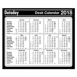 Neale Dataday 2018 Year to View Desk Mouse Mat Ref DMP-2018