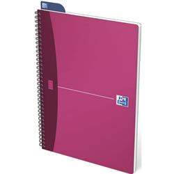 Oxford Metallics Notebook Wirebound Polypropylene Ruled 180pp 90gsm A4 Red Ref 400051874 [Pack 5]