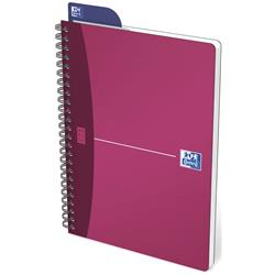 Oxford Metallics Notebook Wirebound Polypropylene Ruled 180pp 90gsm A5 Red Ref 400051879 [Pack 5]