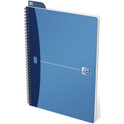 Oxford Metallics Notebook Wirebound Polypropylene Ruled 180pp 90gsm A4 Blue Ref 400051876 [Pack 5]