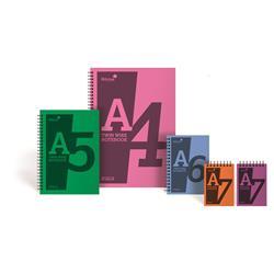 Silvine Notebook Wirebound Polypropylene 60gsm 160pp A4 Assorted Ref POLYA4AC [Pack 5]