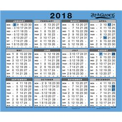 At A Glance 2018 Wall Calendar Ref 930 2018