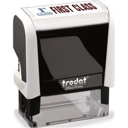 Trodat Office Printy Stamp Self-inking First Class 18x46mm Red Symbol and Blue Wording Ref 81865