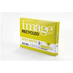 Image Recycled High White 100%recycled A3 420x297mm 80gm2 Ref 69059 [Pack 2500]