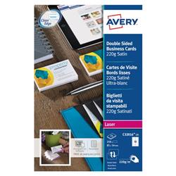 Avery C32016 Quick & Clean Business Cards Laser 220gsm 10 per Sheet Satin Colour Ref C32016-25 - 250 Cards