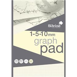 Silvine Designer Graph Pad 85gsm 1mm 5mm 10mm Grid 50 Sheets A4 Cream Wove Ref A4GPIVY + Free Competition