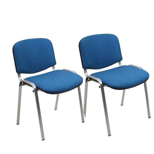 Foto Sedia attesa Dado Unisit - blu oltremare - D500G/2- D5G/2/FB - conf. 2 Sedie pieghevoli, sgabelli e per sala d'attesa