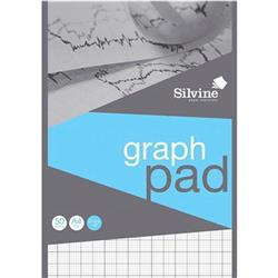 Silvine Student Graph Pad 90gsm 2mm 10mm 20mm Grid 50 Sheets A4 Ref A421020 [Pack 10] + Free Competition